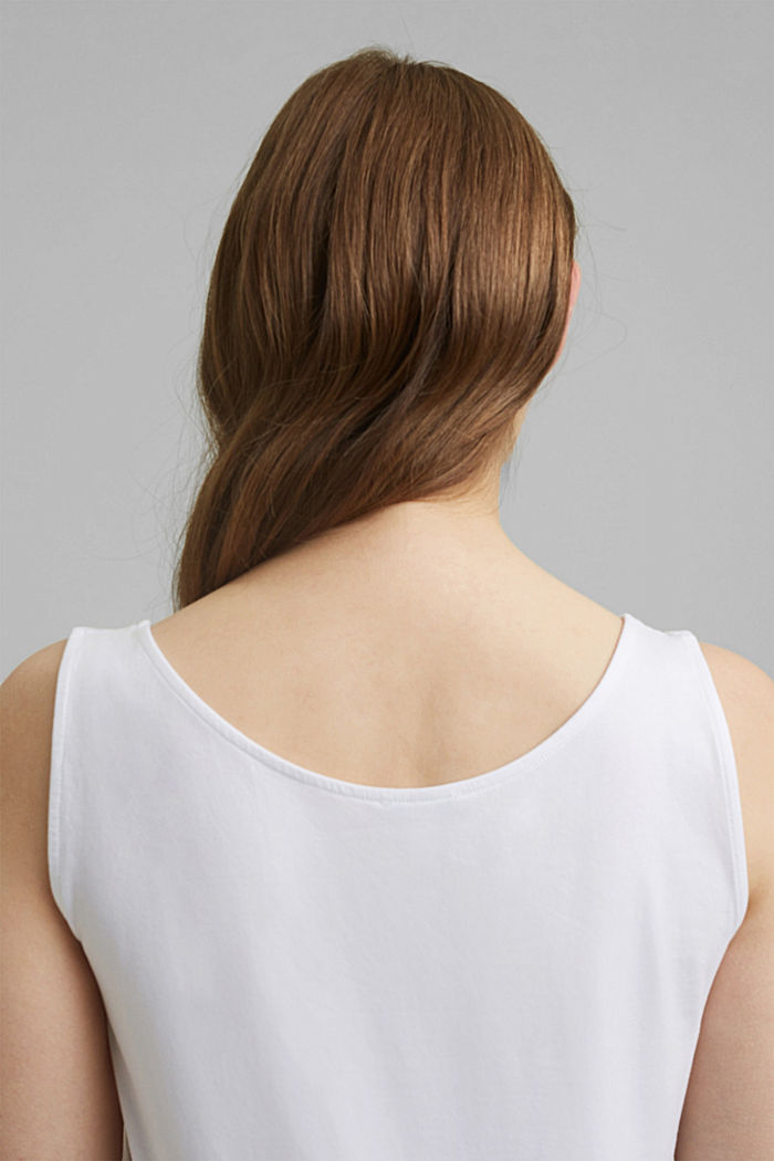 CURVY stretch top made of organic cotton, WHITE, detail image number 5