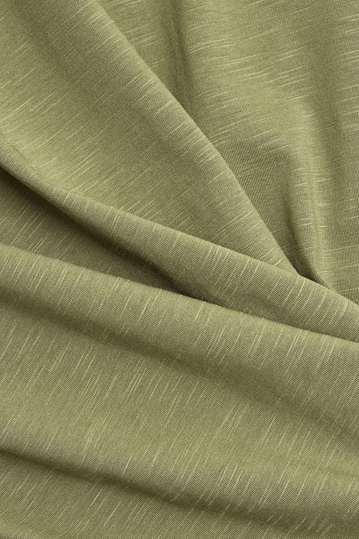 CURVY long sleeve top containing organic cotton/TENCEL™, LIGHT KHAKI, detail image number 4