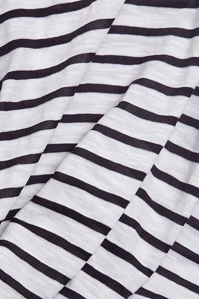 Recycled: striped T-shirt containing organic cotton, NAVY, detail image number 4