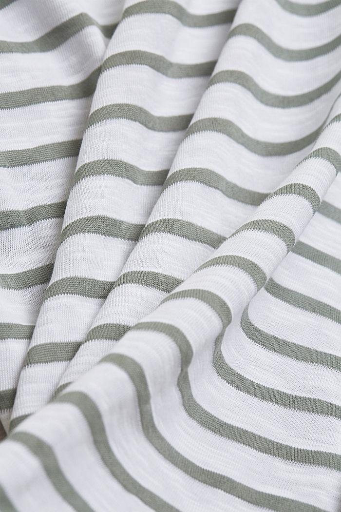 In materiale riciclato: maglia a righe con cotone biologico, LIGHT KHAKI, detail image number 4