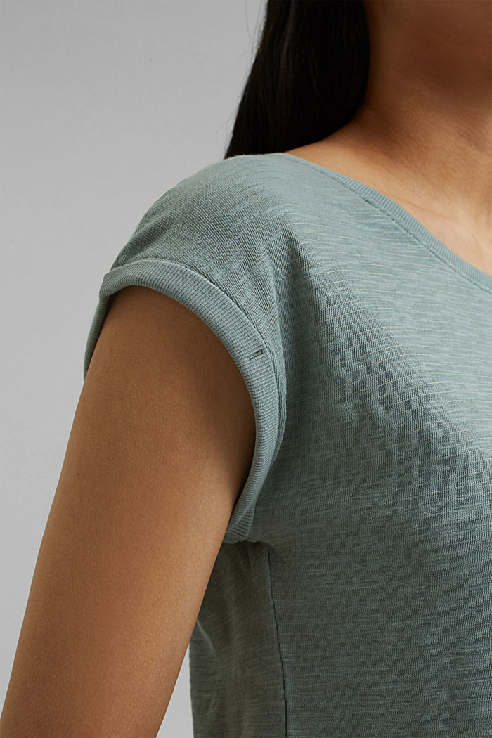 Recycled: T-shirt with organic cotton, TURQUOISE, detail image number 2