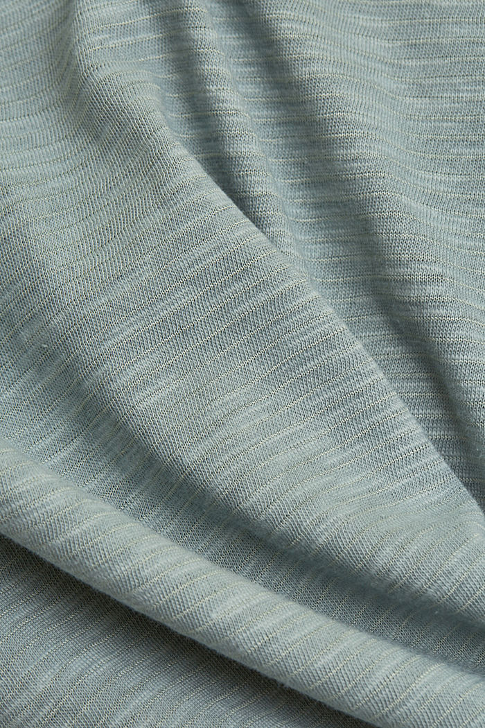 Recycelt: T-Shirt mit Organic Cotton, TURQUOISE, detail image number 4