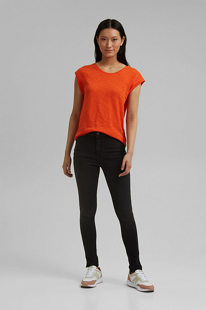 Recycled: T-shirt with organic cotton, ORANGE RED, detail image number 1