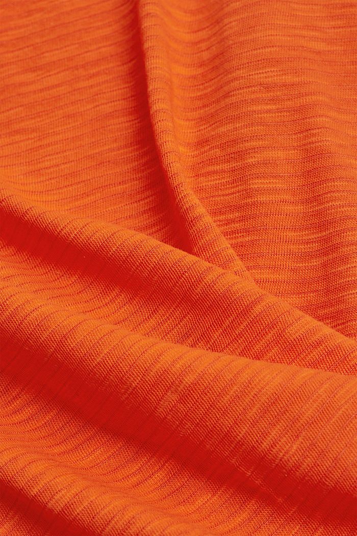 Recycled: T-shirt with organic cotton, ORANGE RED, detail image number 4