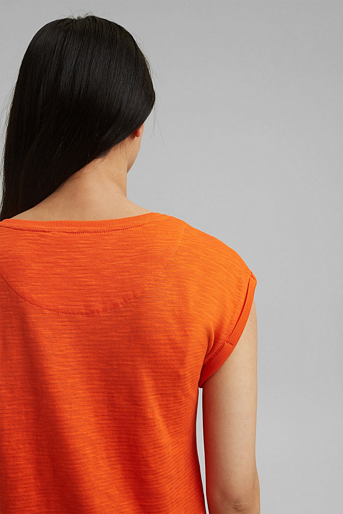 Recycled: T-shirt with organic cotton, ORANGE RED, detail image number 5