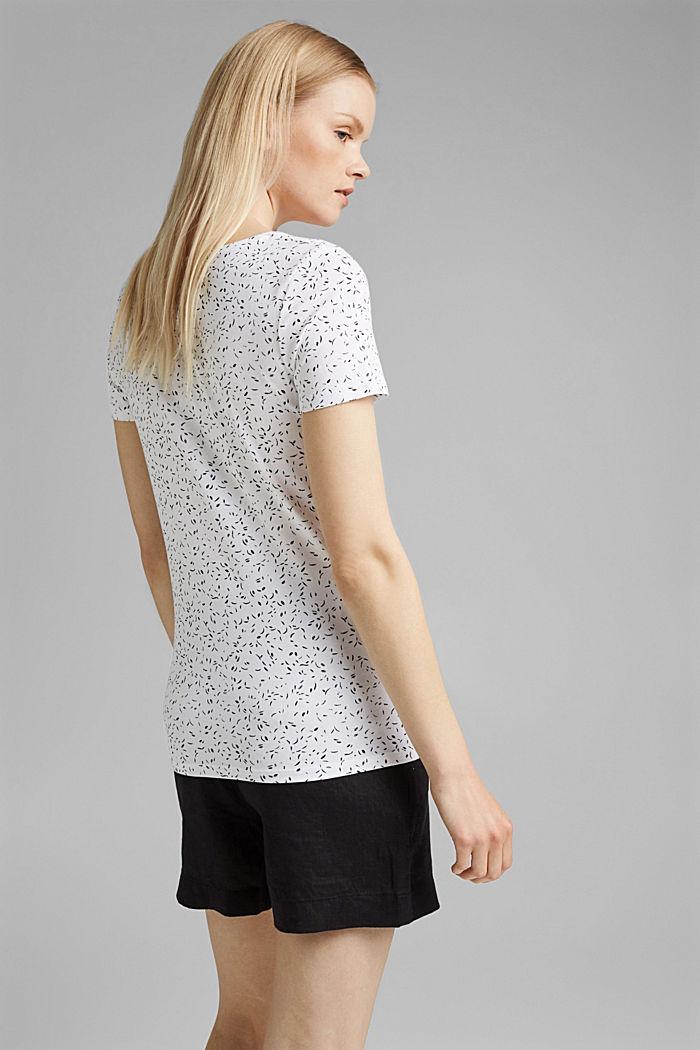 Printed T-shirt made of organic cotton, WHITE, detail image number 3