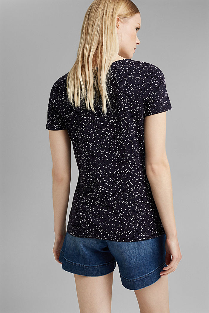 Printed T-shirt made of organic cotton, NAVY, detail image number 3