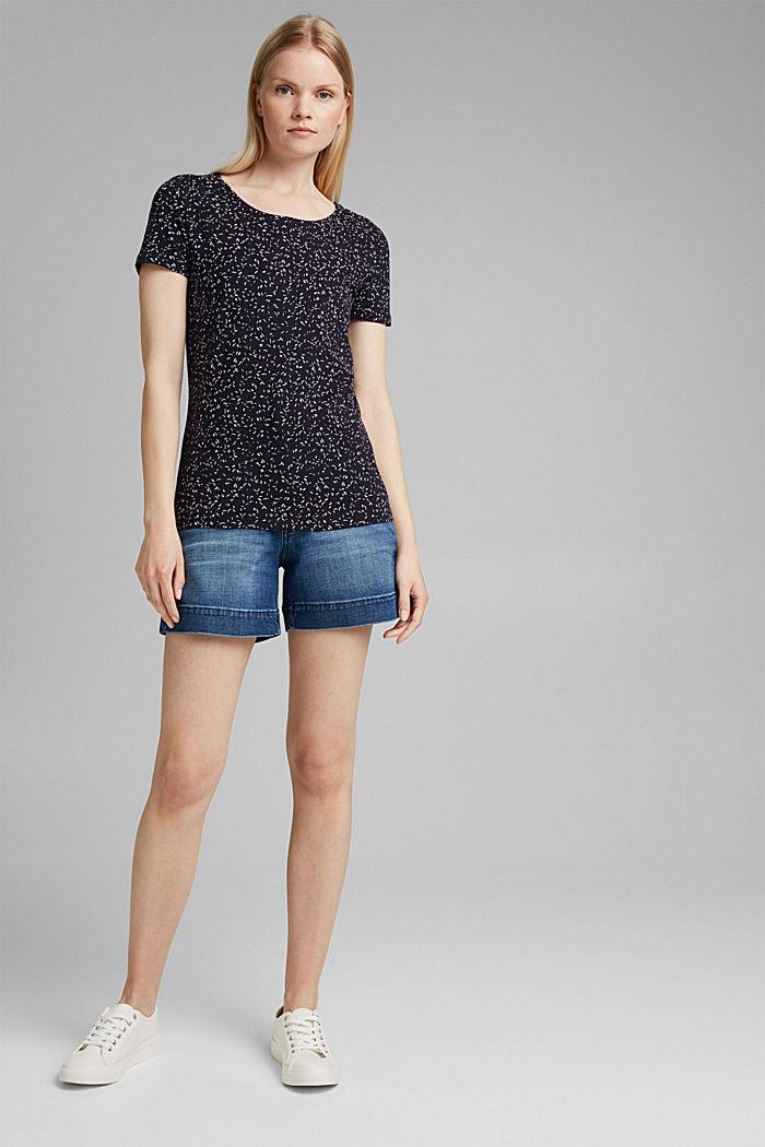 Printed T-shirt made of organic cotton, NAVY, detail image number 1