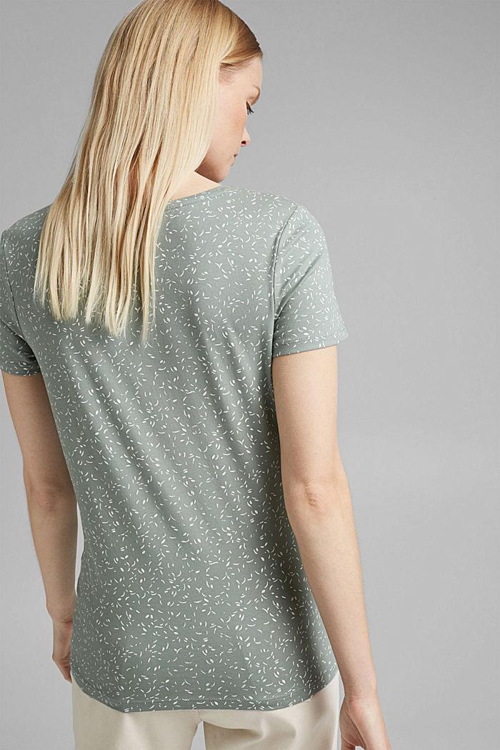 T-Shirt mit Print aus Organic Cotton, TURQUOISE, detail image number 3