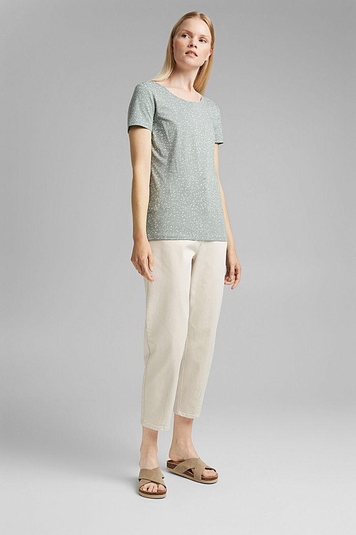 T-Shirt mit Print aus Organic Cotton, TURQUOISE, detail image number 1