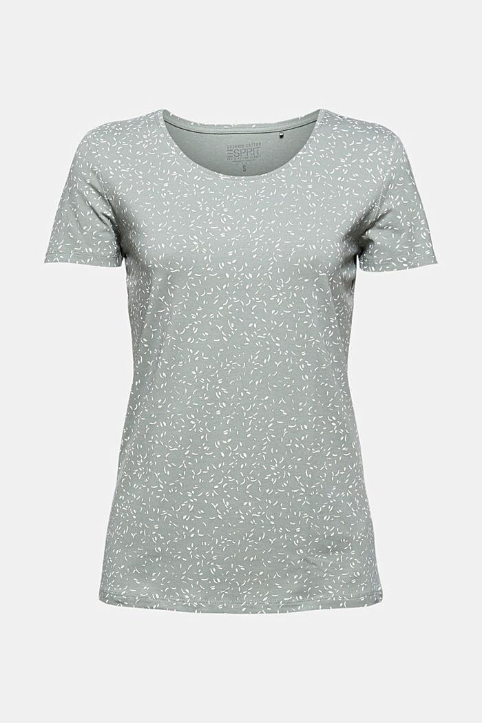 T-Shirt mit Print aus Organic Cotton, TURQUOISE, detail image number 5