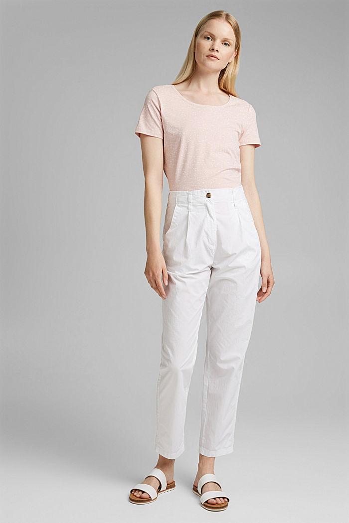 T-Shirt mit Print aus Organic Cotton, NUDE, detail image number 1