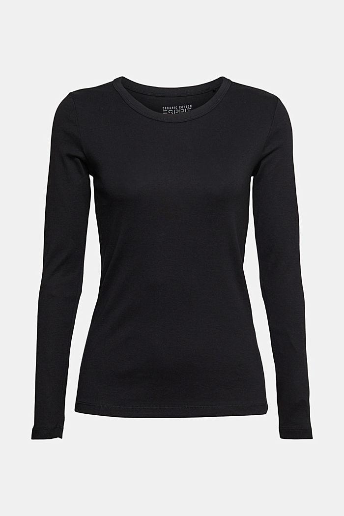 Camiseta de manga larga con cuello redondo en 100% algodón ecológico