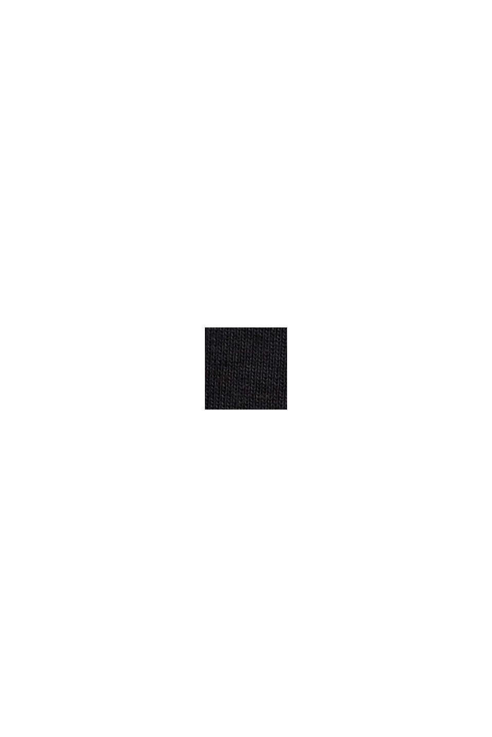 Rundhals-Longsleeve aus 100% Bio-Baumwolle, BLACK, swatch
