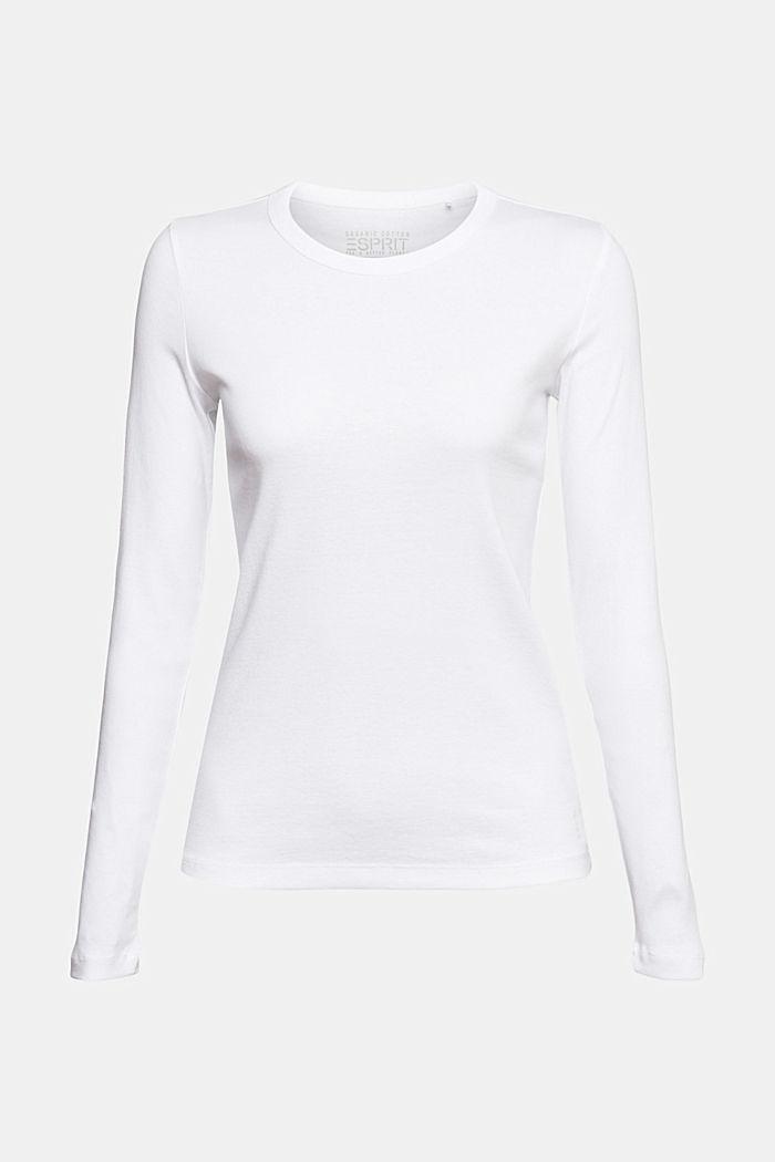 Tričko s dlouhým rukávem s kulatým výstřihem, ze 100% bio bavlny