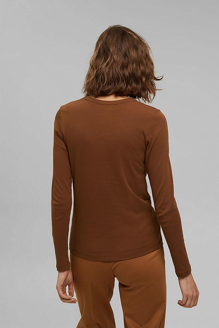 T-shirt à manches longues et encolure ronde, 100% coton biologique, TOFFEE, detail image number 3