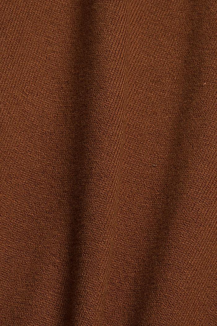 T-shirt à manches longues et encolure ronde, 100% coton biologique, TOFFEE, detail image number 4