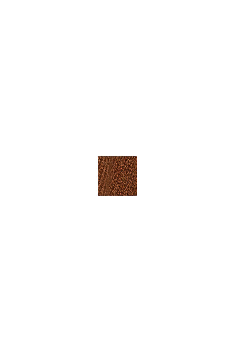 Rundhals-Longsleeve aus 100% Bio-Baumwolle, TOFFEE, swatch