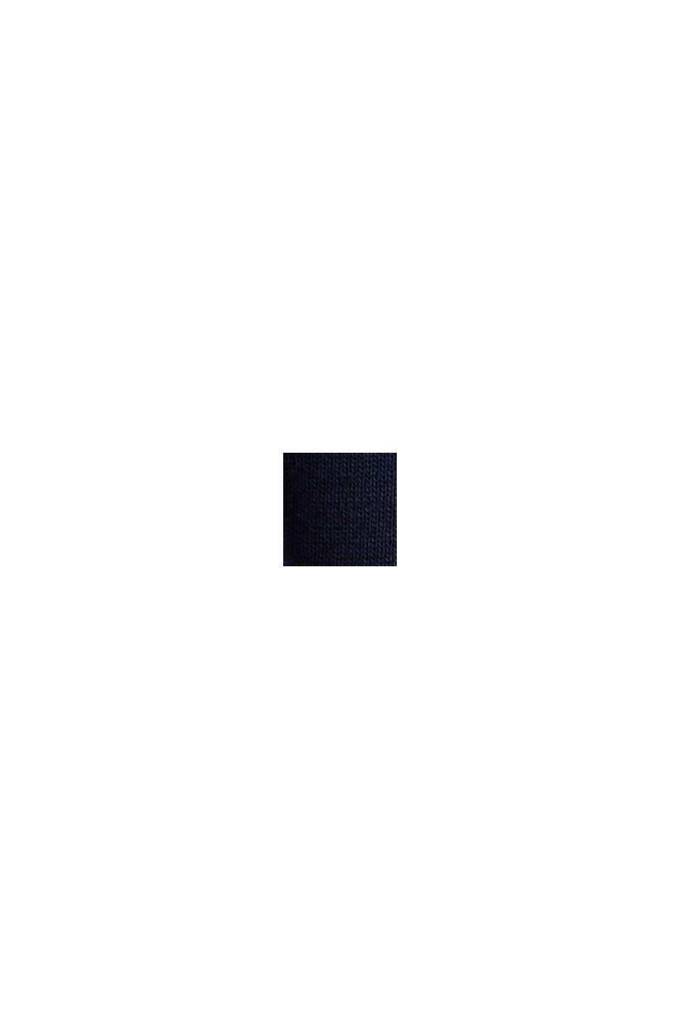 Rundhals-Longsleeve aus 100% Bio-Baumwolle, NAVY, swatch