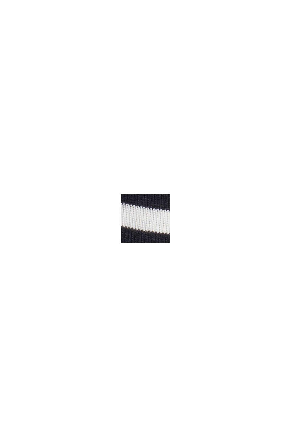 Gestreifte Longsleeve aus 100% Bio-Baumwolle, BLACK, swatch