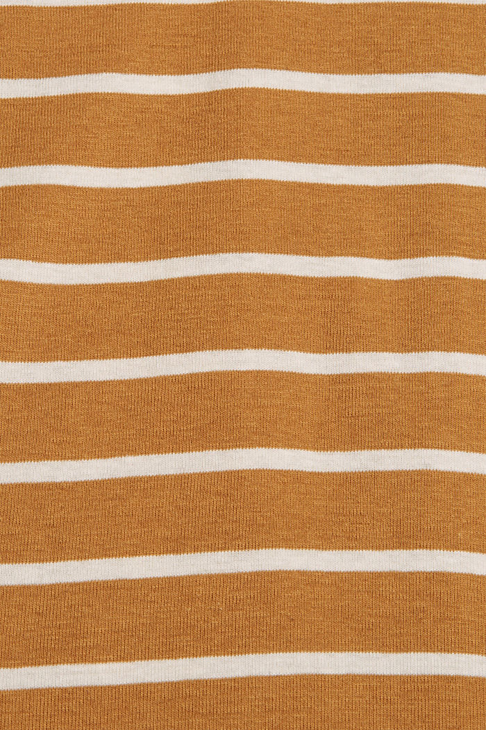 Striped long sleeve top made of 100% organic cotton, CAMEL, detail image number 4