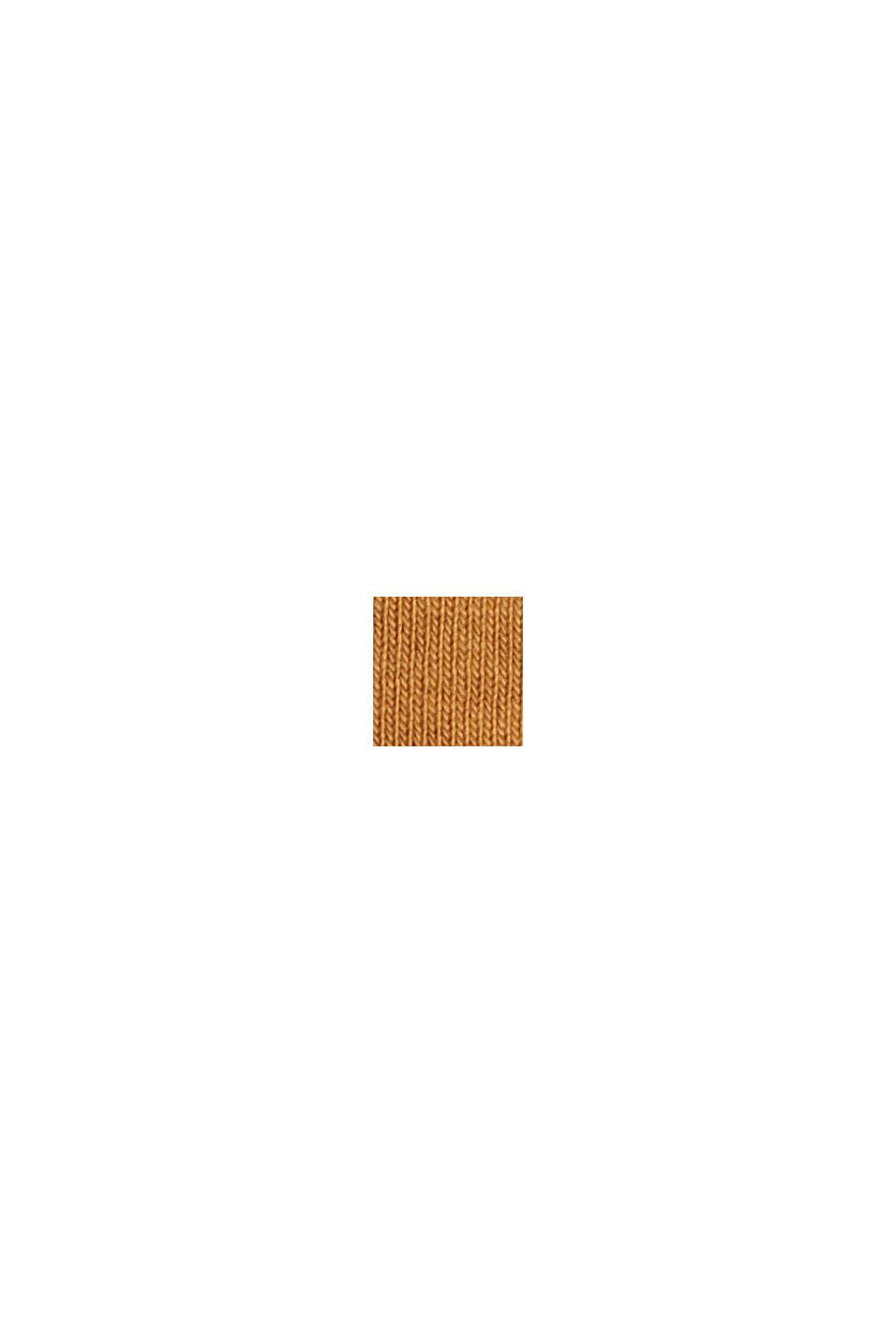 Gestreifte Longsleeve aus 100% Bio-Baumwolle, CAMEL, swatch