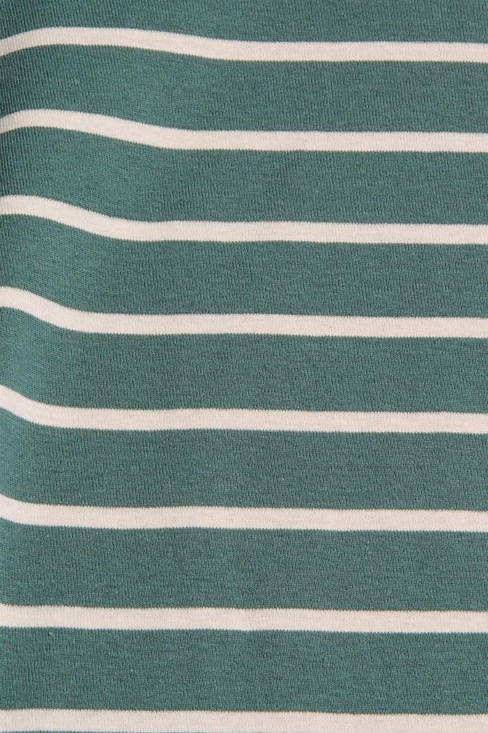 Gestreifte Longsleeve aus 100% Bio-Baumwolle, TEAL BLUE, detail image number 4