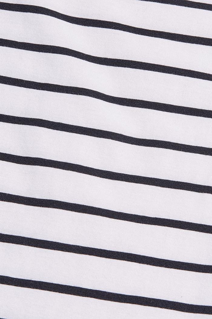 Gestreiftes T-Shirt aus Bio-Baumwolle, WHITE, detail image number 4