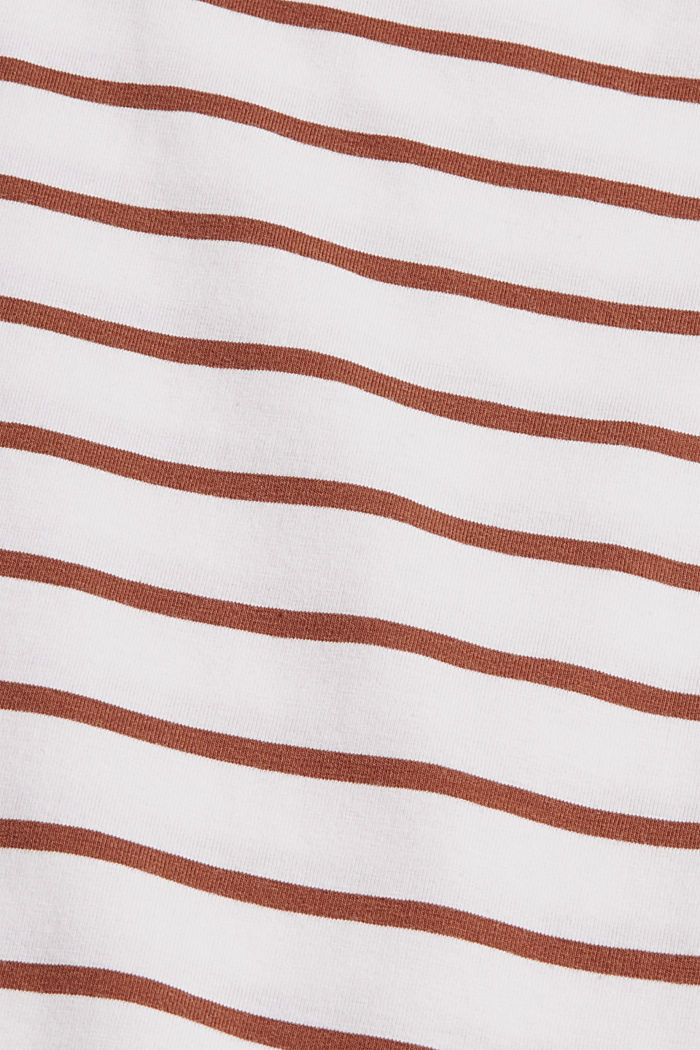 T-shirt a righe in cotone biologico, TOFFEE, detail image number 4