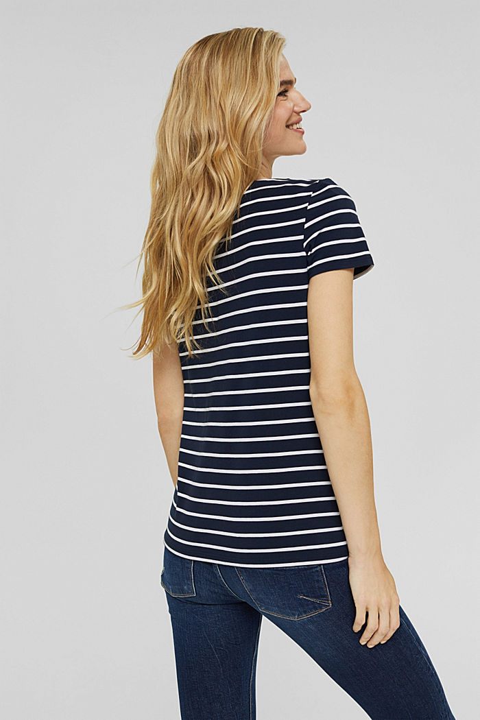 Striped T-shirt made of organic cotton, NAVY, detail image number 3