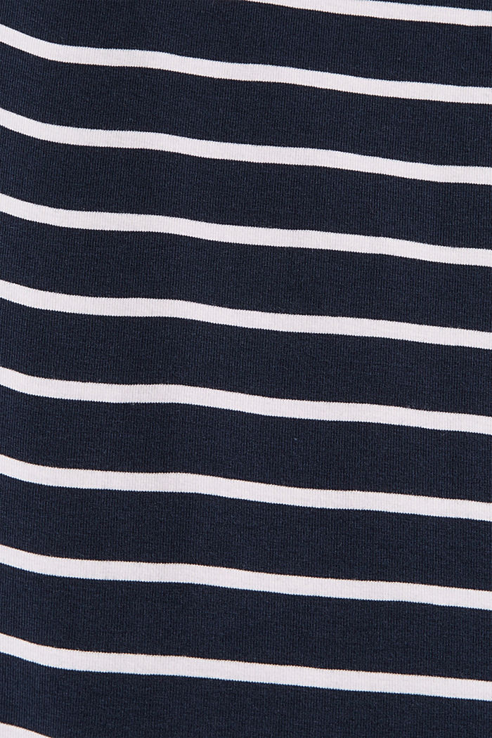 Striped T-shirt made of organic cotton, NAVY, detail image number 4
