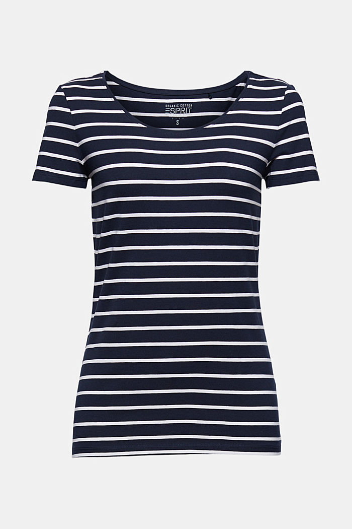 Striped T-shirt made of organic cotton, NAVY, detail image number 6