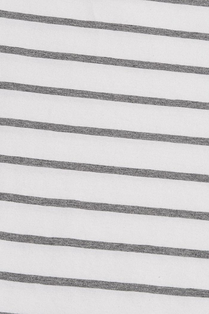 Gestreepte longsleeve van biologisch katoen, WHITE, detail image number 4