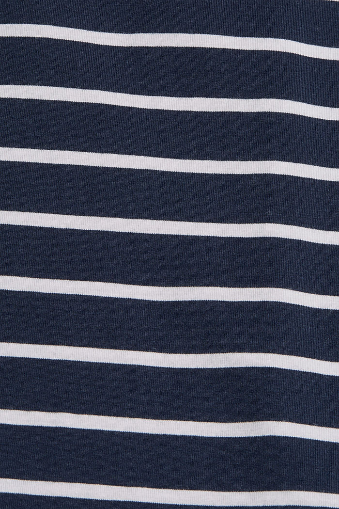 Maglia a manica lunga a righe in cotone biologico, NAVY, detail image number 4