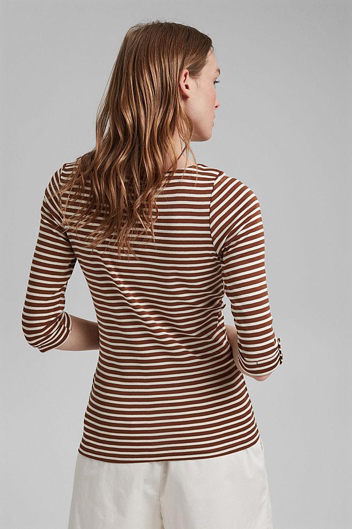 T-shirt rayé à manches longues, 100% coton biologique, TOFFEE, detail image number 3
