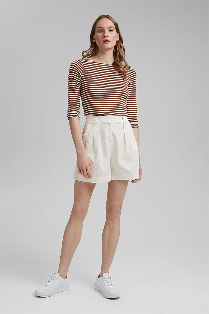 T-shirt rayé à manches longues, 100% coton biologique, TOFFEE, detail image number 1