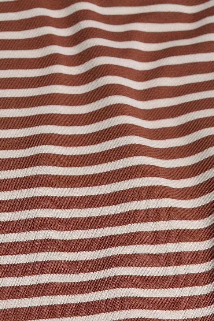 T-shirt rayé à manches longues, 100% coton biologique, TOFFEE, detail image number 4