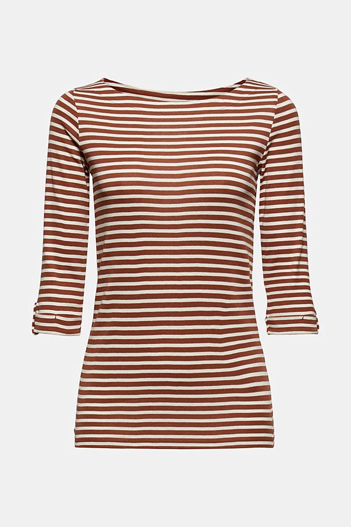 T-shirt rayé à manches longues, 100% coton biologique, TOFFEE, detail image number 6