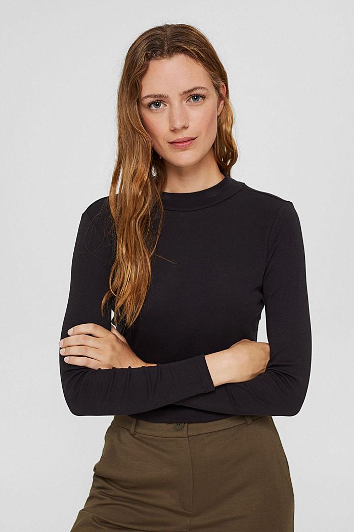 Tričko s dlouhým rukávem a stojáčkem, 100% bio bavlna
