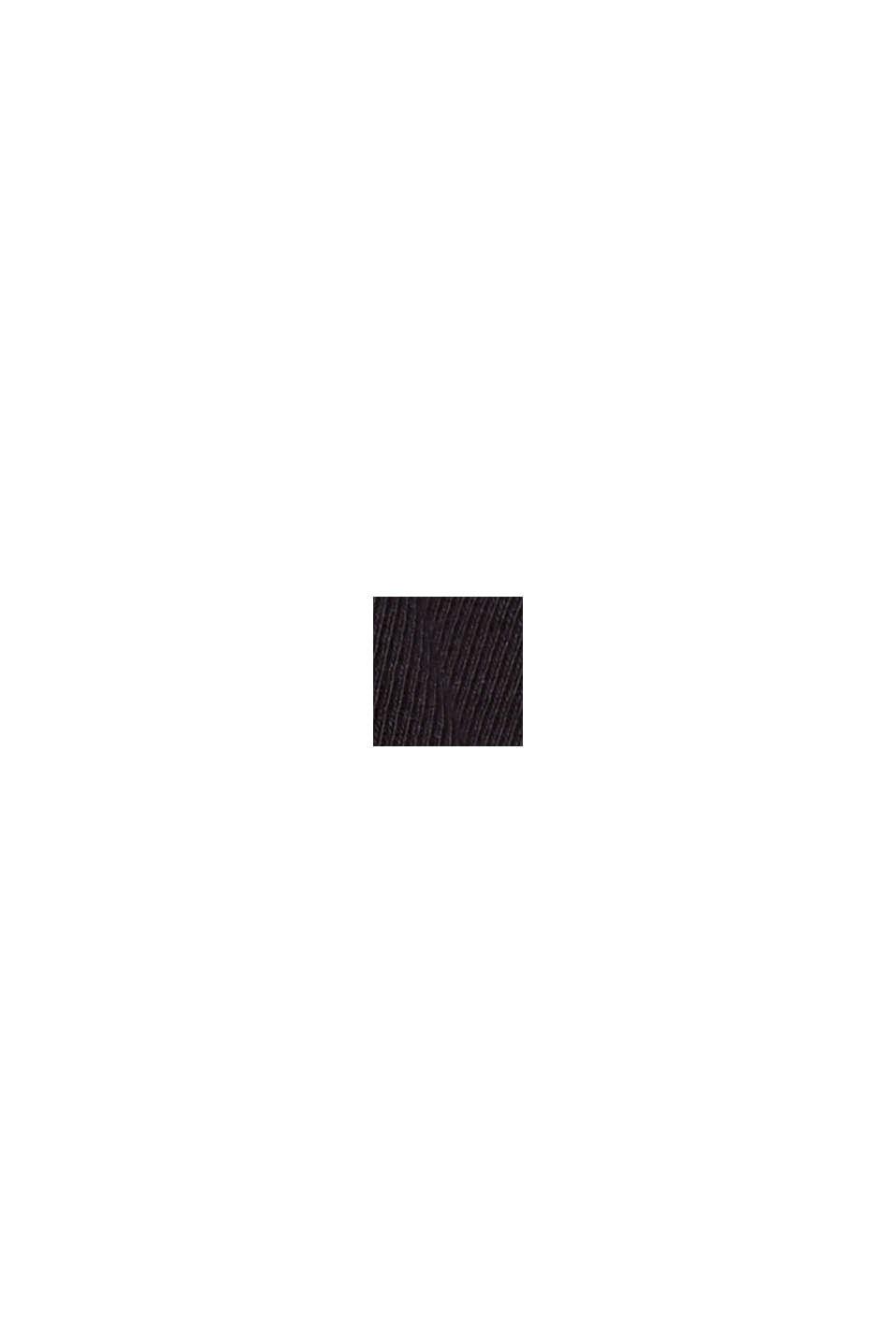 Camiseta de manga larga con cuello mao, 100 % algodón ecológico, BLACK, swatch