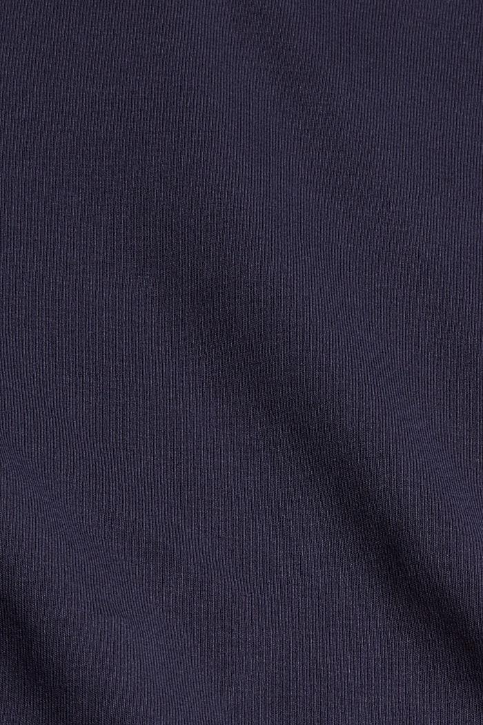 Longsleeve mit Stehkragen, 100% Bio-Baumwolle, NAVY, detail image number 4
