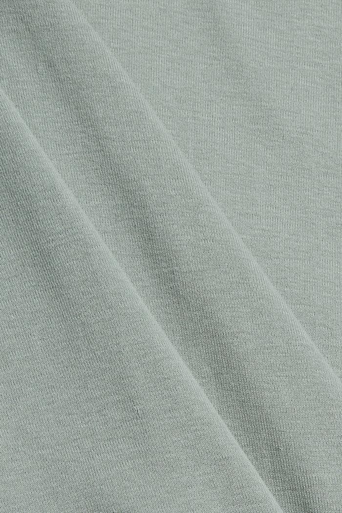 Longsleeve met strepen, 100% biologisch katoen, DUSTY GREEN, detail image number 4