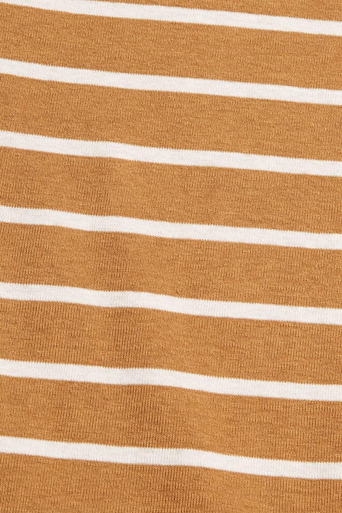 Gestreiftes Longsleeve aus Bio-Baumwolle, CAMEL, detail image number 4