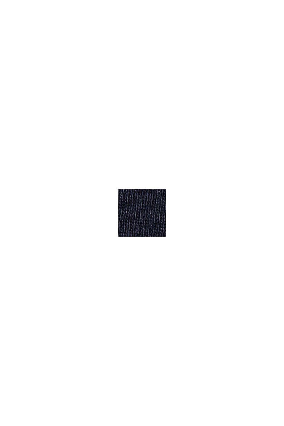 T-shirt rayé à manches longues en coton bio, NAVY, swatch
