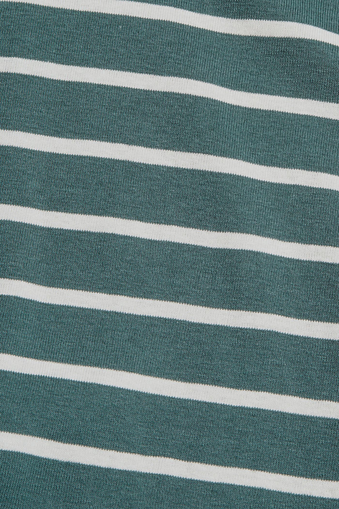 Maglia a manica lunga a righe in cotone biologico, TEAL BLUE, detail image number 4