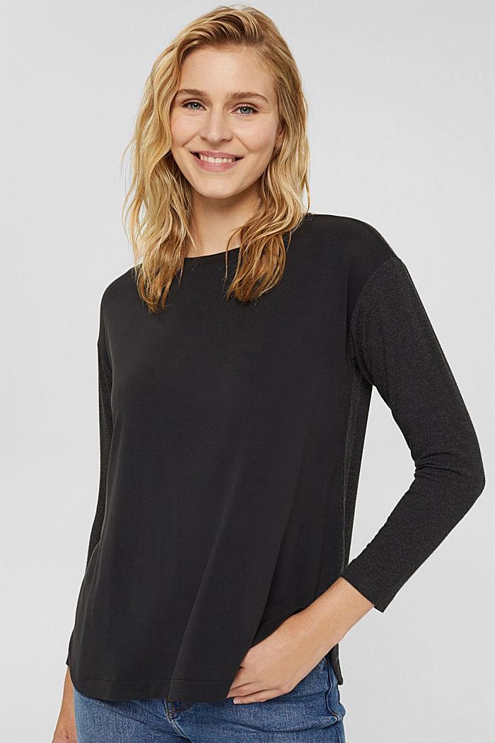 Camiseta de manga larga en mezcla de LENZING™ ECOVERO™-