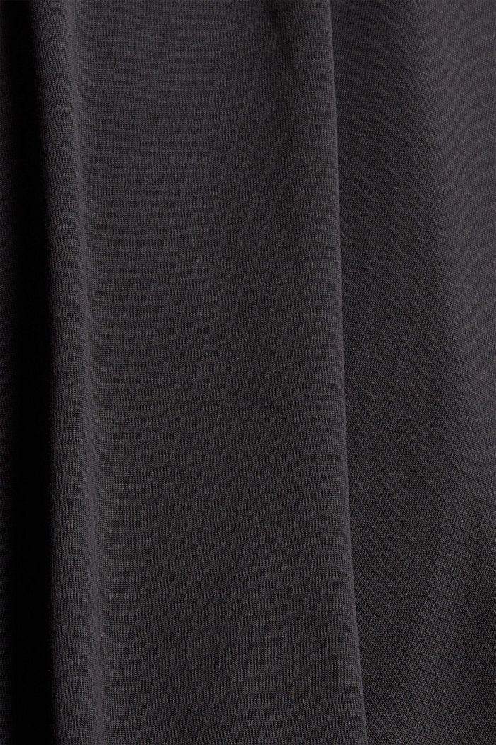 Maglia a manica lunga in misto LENZING™ ECOVERO™, BLACK, detail image number 4