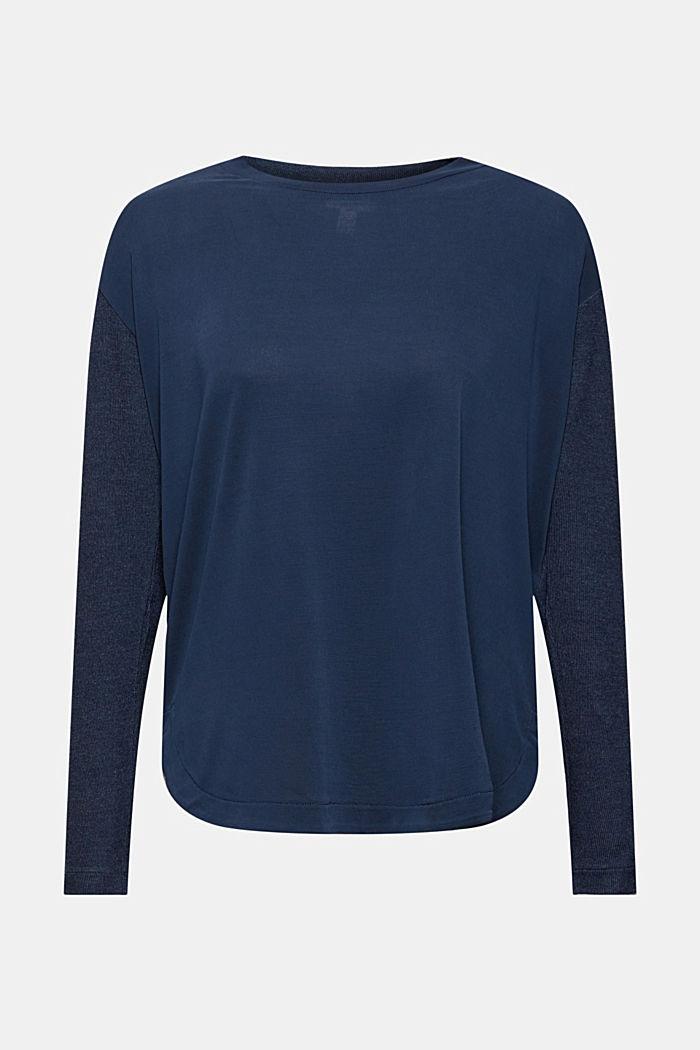 T-shirt à manches longues en mélange de LENZING™ ECOVERO™