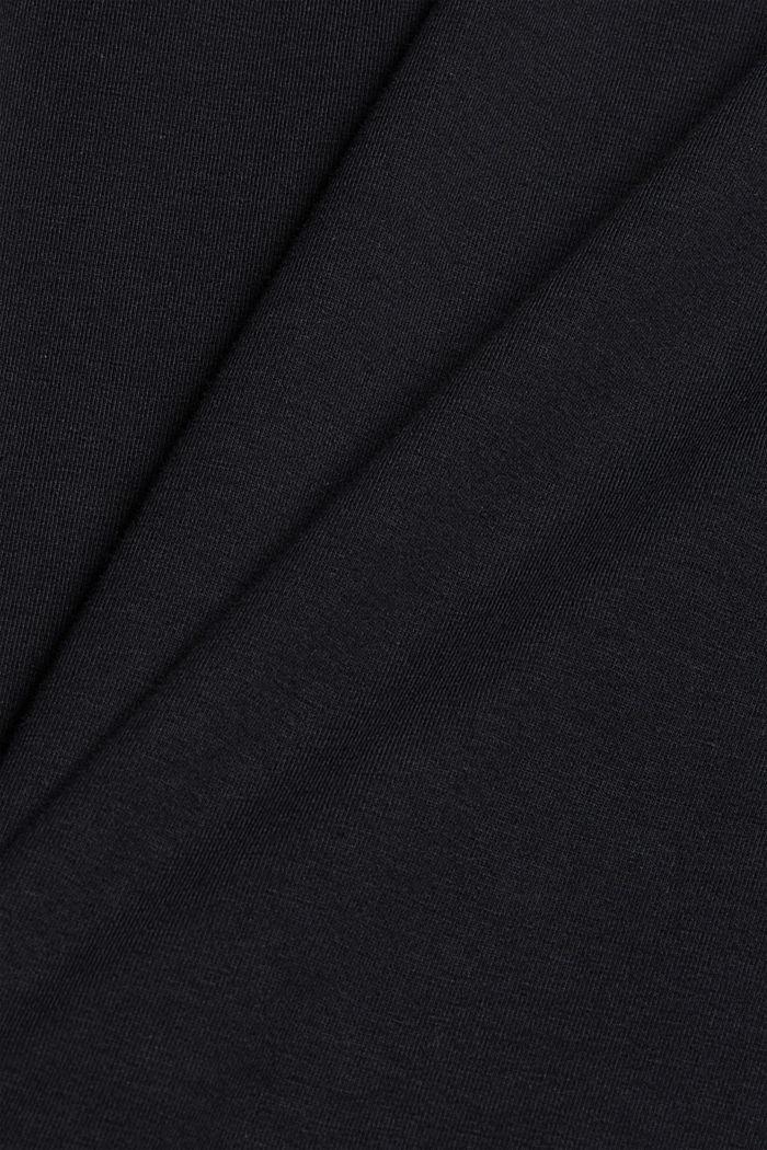 T-shirt à manches longues et col roulé, en coton biologique, BLACK, detail image number 4