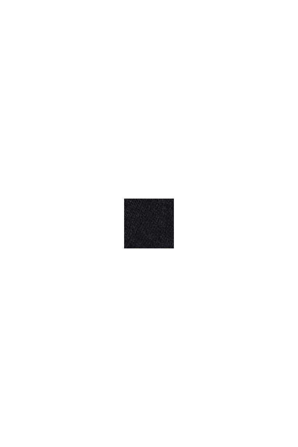 Langærmet top med rullekrave, i økologisk bomuld, BLACK, swatch